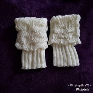 Ivory Crocheted Boot Cuffs